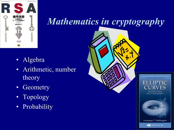 Mathematics in cryptography