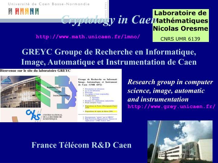 Cryptology in Caen