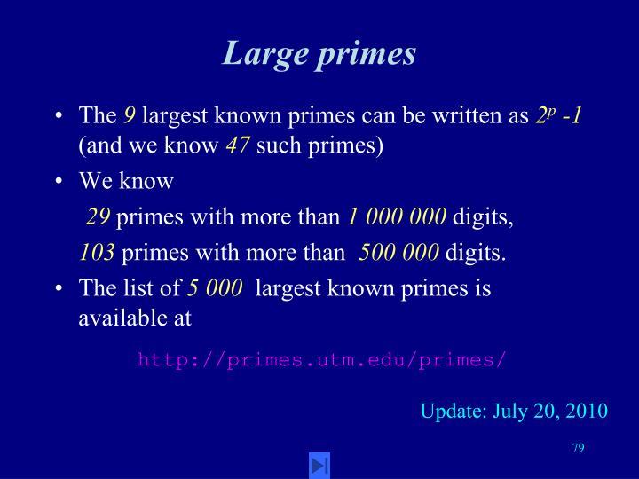 Large primes
