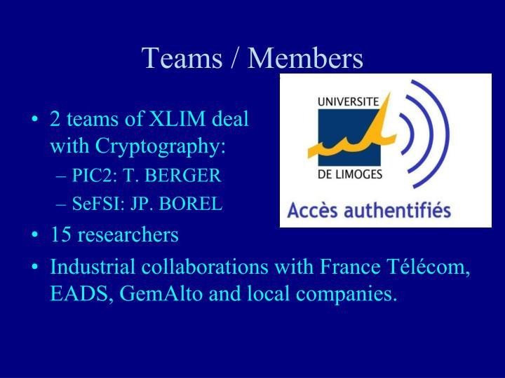 Teams / Members