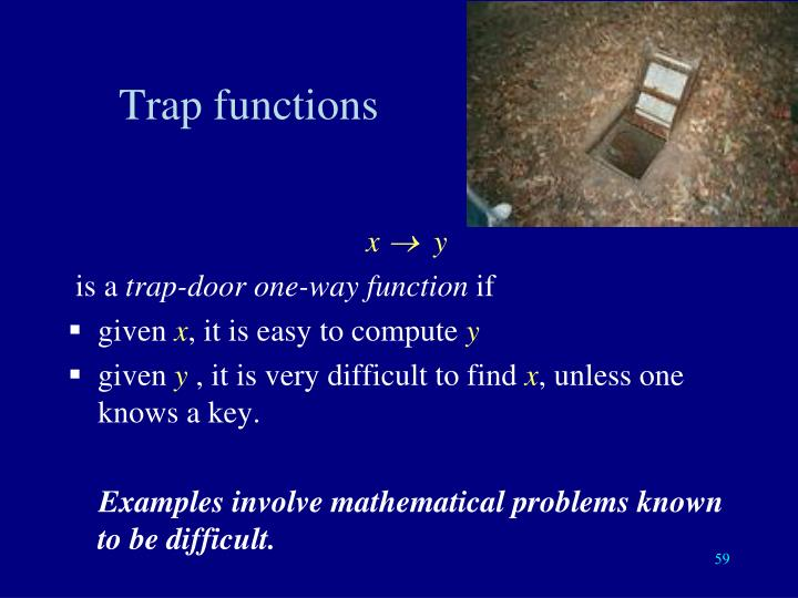 Trap functions