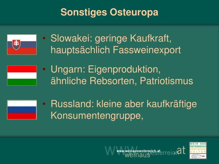 Sonstiges Osteuropa
