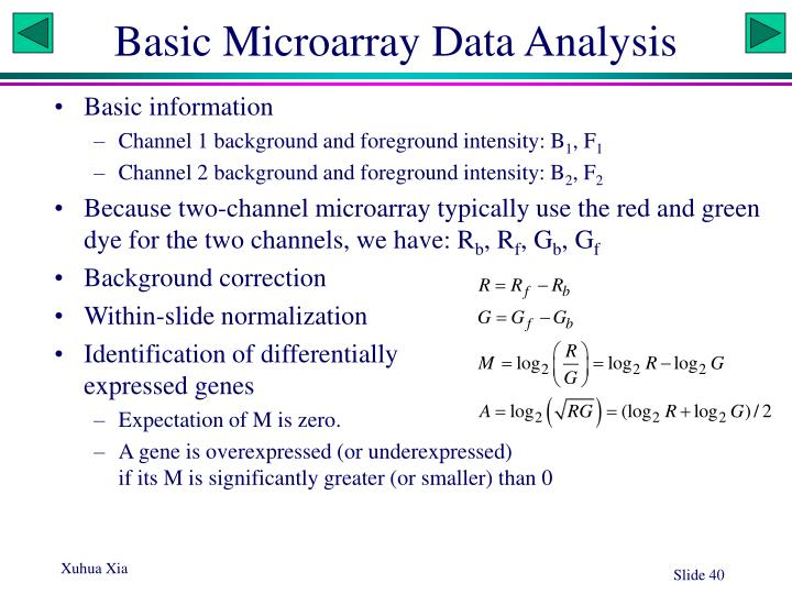 Basic Microarray Data Analysis