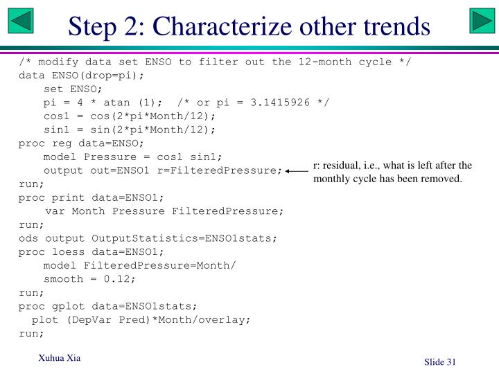 Step 2: Characterize other trends