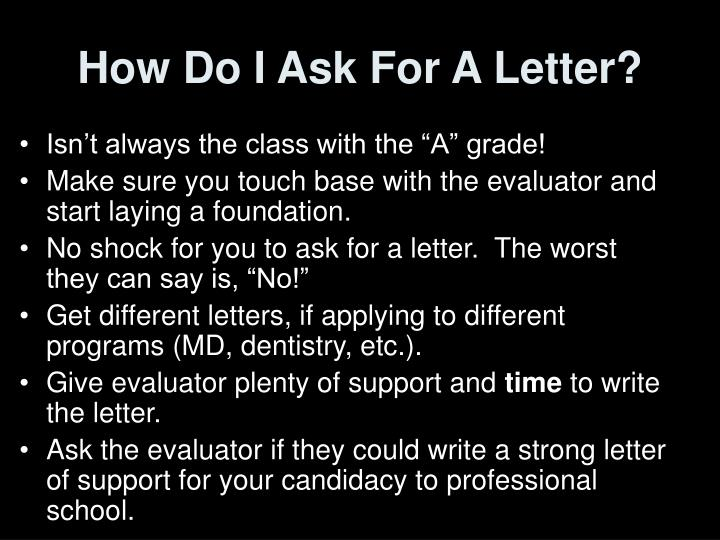 How Do I Ask For A Letter?