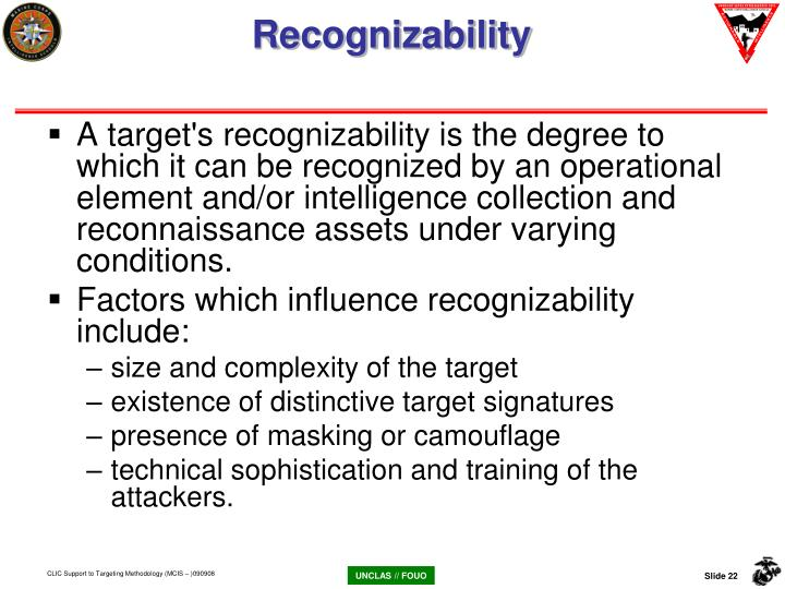 Recognizability