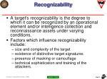 recognizability