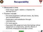 recuperability