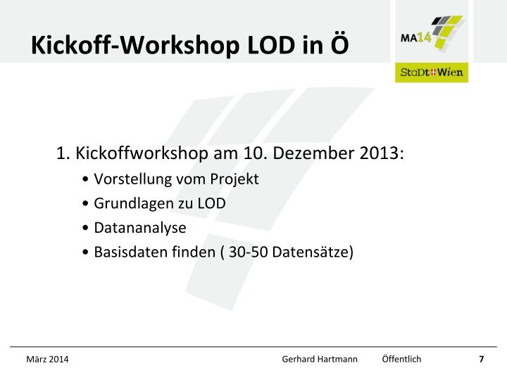 Kickoff-Workshop LOD in Ö