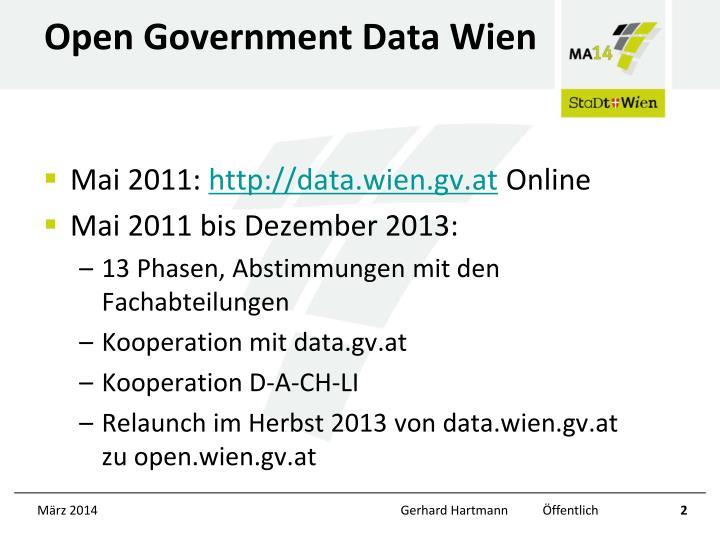 Open Government Data Wien