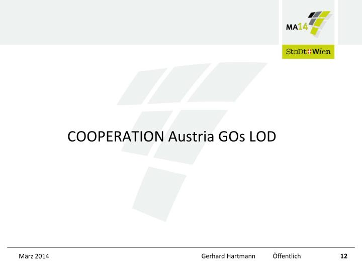 COOPERATION Austria GOs LOD
