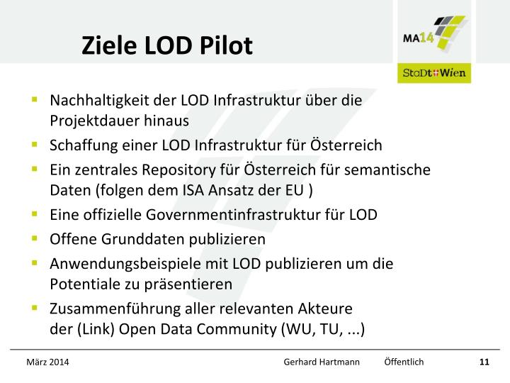 Ziele LOD Pilot