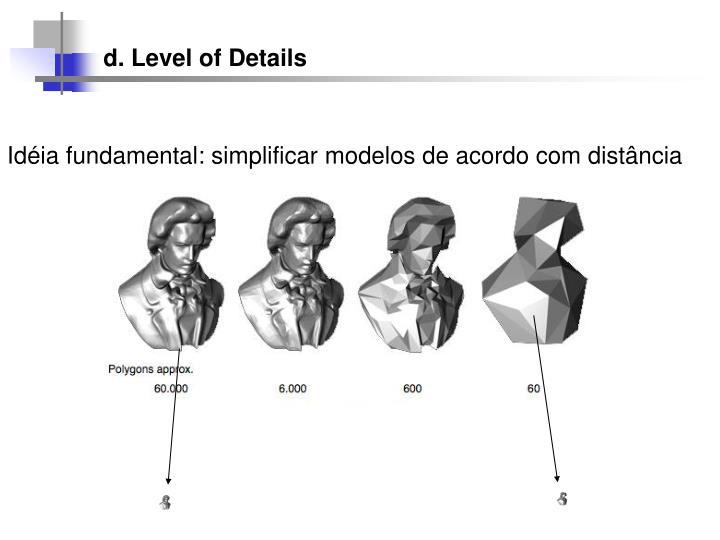 d. Level of Details