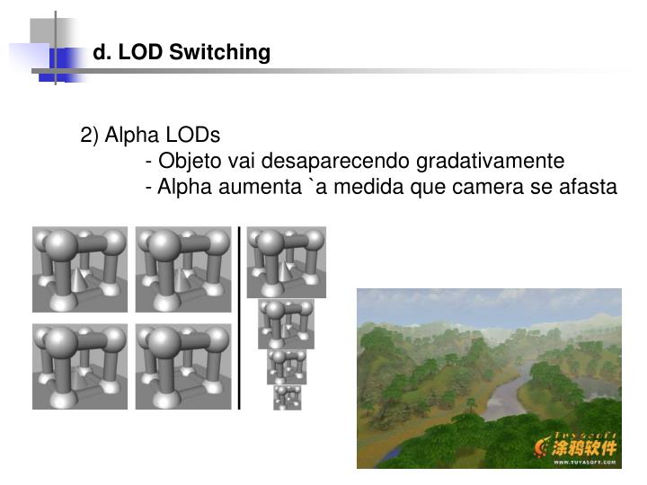 d. LOD Switching