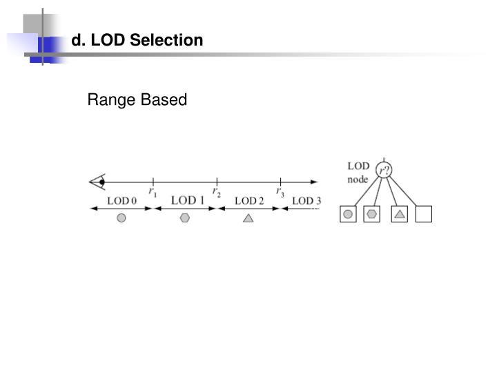 d. LOD Selection