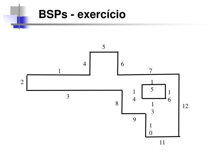 BSPs - exercício