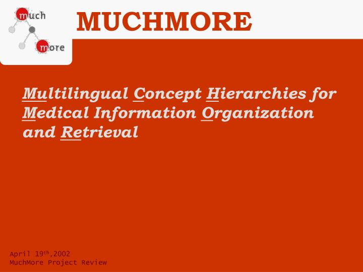 mu ltilingual c oncept h ierarchies for m edical information o rganization and re trieval