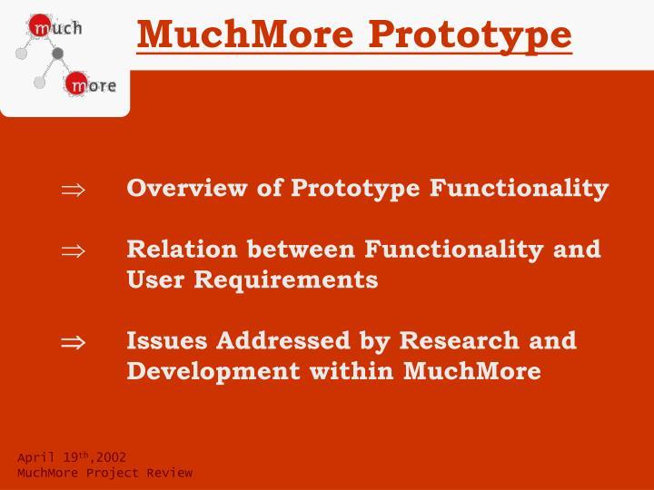 MuchMore Prototype