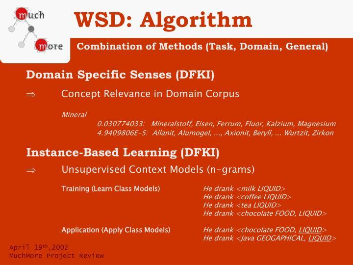 WSD: Algorithm