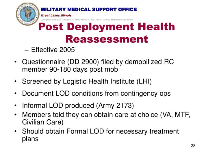 Post Deployment Health Reassessment