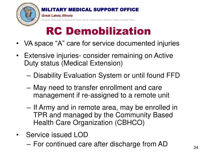 RC Demobilization