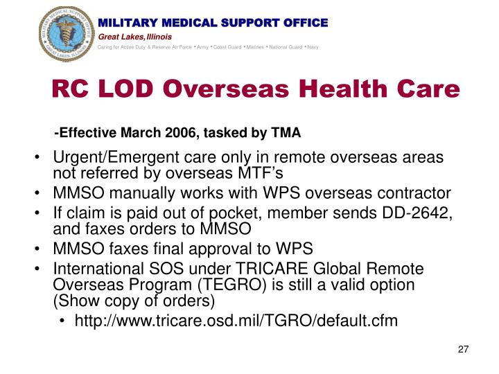 RC LOD Overseas Health Care
