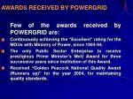 awards received by powergrid