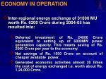 economy in operation