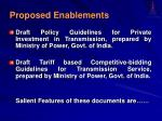 proposed enablements