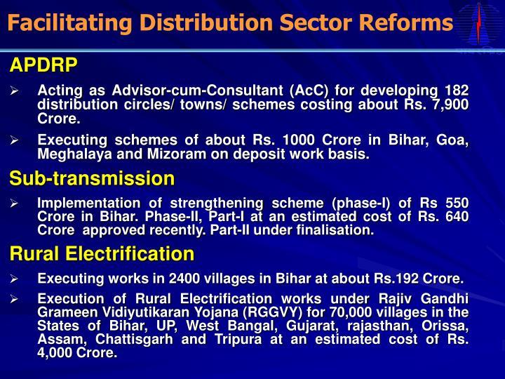 Facilitating Distribution Sector Reforms