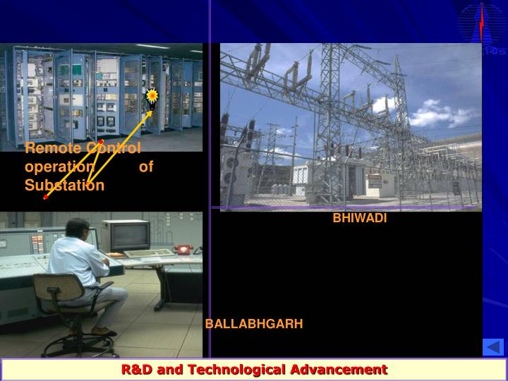 Remote Control       operation          of Substation