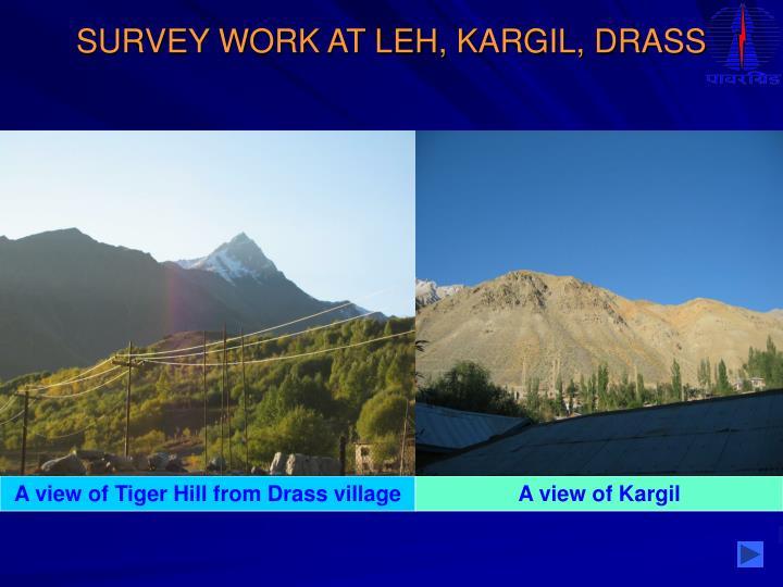 SURVEY WORK AT LEH, KARGIL, DRASS