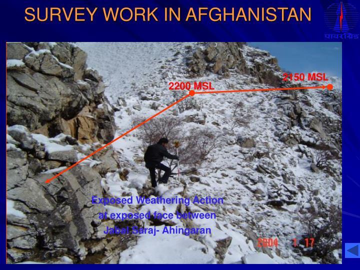 SURVEY WORK IN AFGHANISTAN
