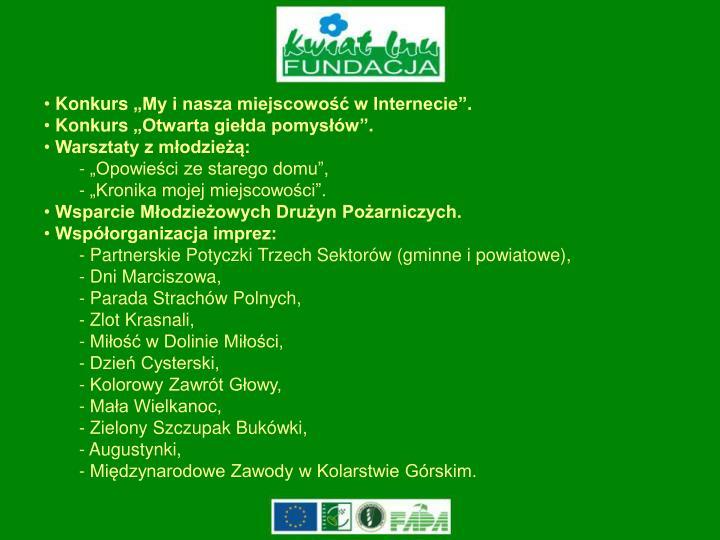 """Konkurs """"My i nasza miejscowość w Internecie""""."""