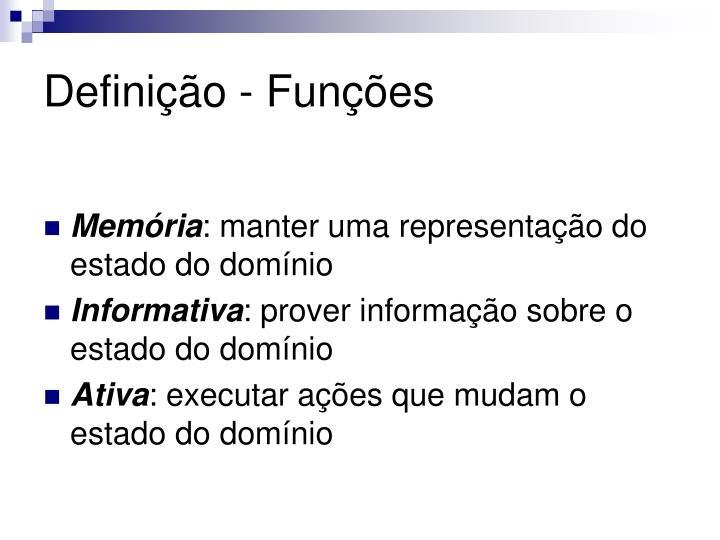 Definição - Funções