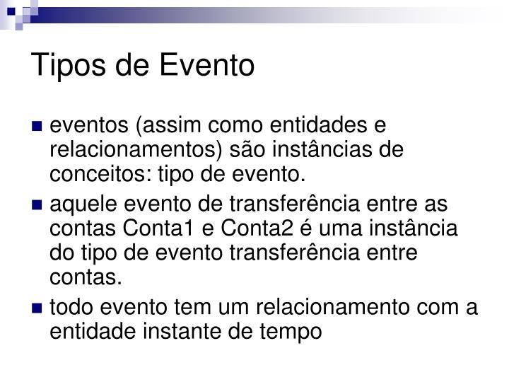 Tipos de Evento