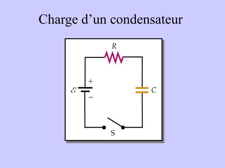 Charge d'un condensateur