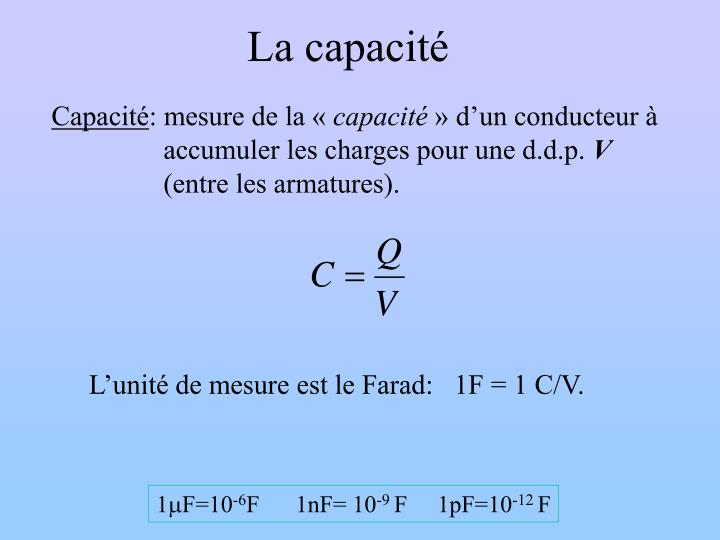 La capacité