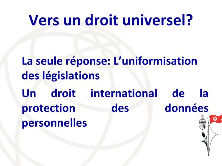 Vers un droit universel?
