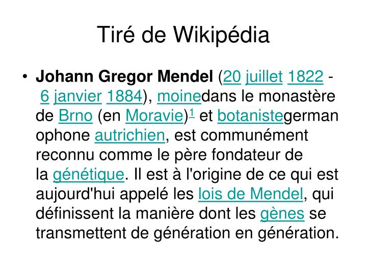 Tiré de Wikipédia