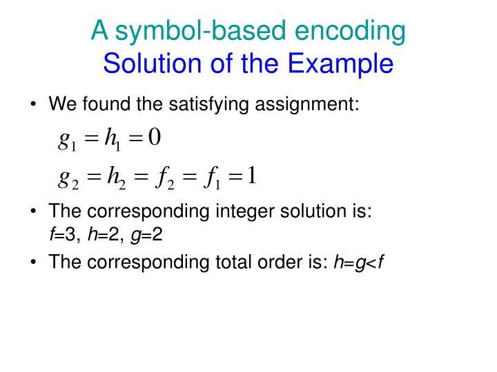 A symbol-based encoding