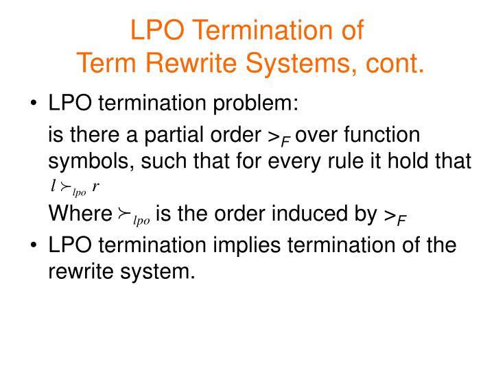LPO Termination of