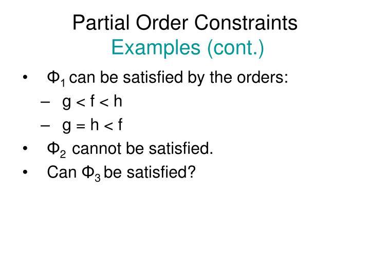 Partial Order Constraints