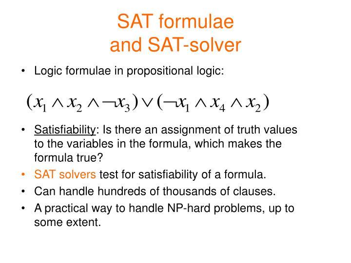 SAT formulae