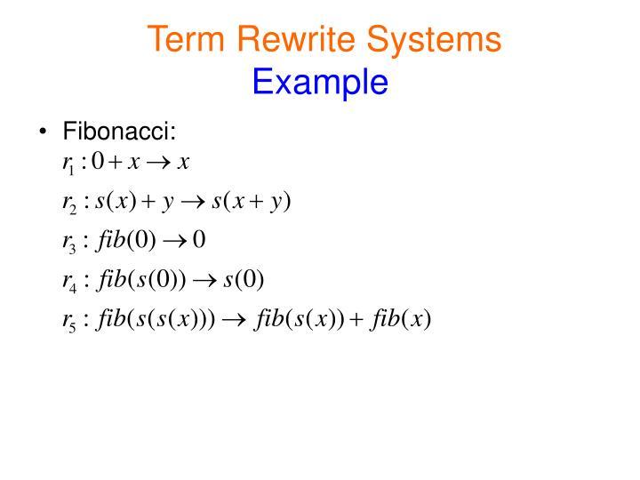 Term Rewrite Systems
