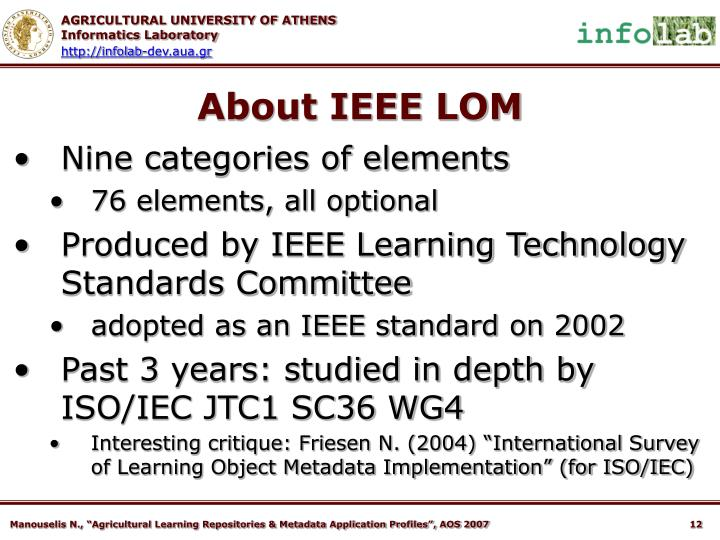 About IEEE LOM