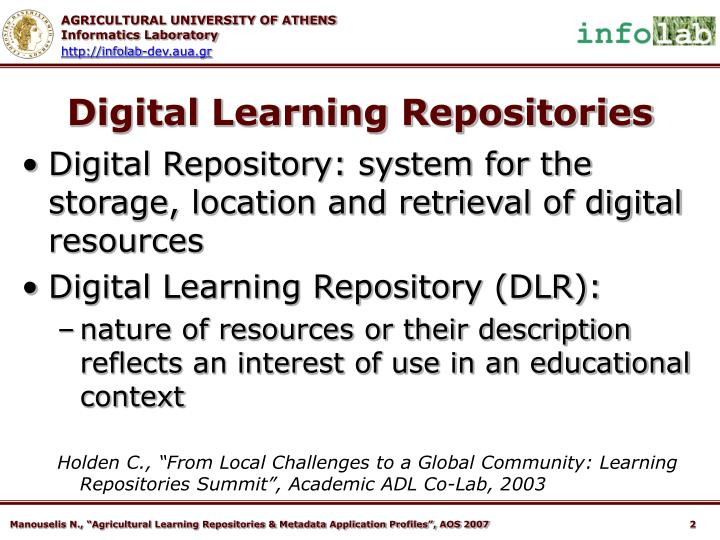 Digital learning repositories