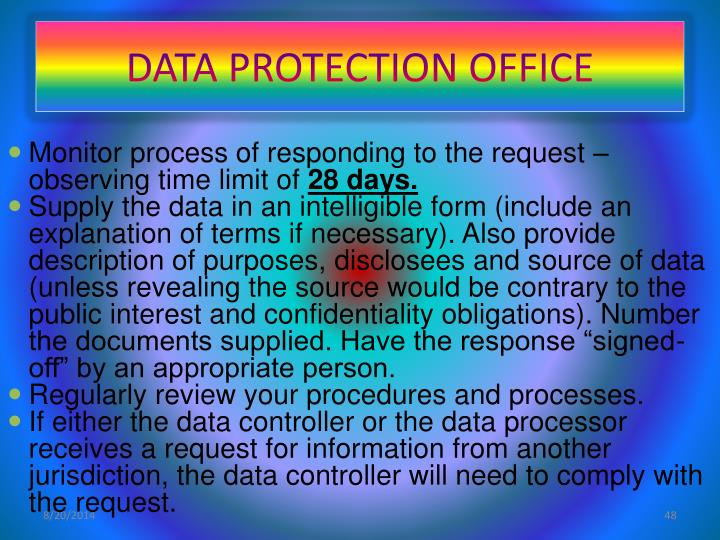 DATA PROTECTION OFFICE