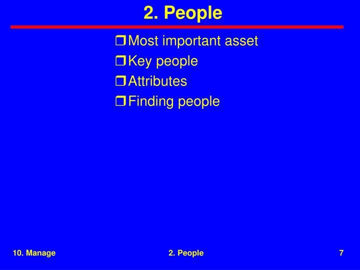 2. People