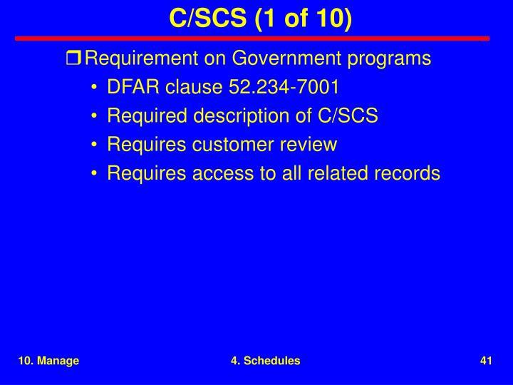 C/SCS (1 of 10)